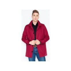 Płaszcz V028 Bordo. Czerwone płaszcze na zamek męskie VISENT, m. Za 179,00 zł.