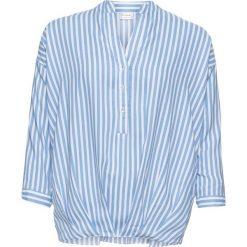 Bluzki damskie: Bluzka z kokardkami bonprix biało-jasnoniebieski w paski