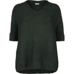 Noisy May Vera 3/4 V-Neck Knit Sweter damski zielony. Zielone swetry klasyczne damskie Noisy May, s, ze splotem. Za 79,90 zł.