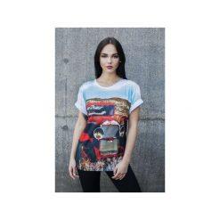 T-shirt Oldtimer. Szare t-shirty damskie Bahabay, m, z nadrukiem, z bawełny. Za 83,30 zł.