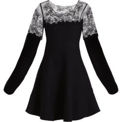 Sukienki dzianinowe: Derhy JARDINIERE ROBE Sukienka dzianinowa noir