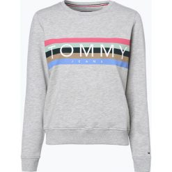 Bluzy damskie: Tommy Jeans - Damska bluza nierozpinana, szary