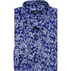 Koszula SIMONE8D KDWS000072. Niebieskie koszule męskie na spinki Giacomo Conti, m, z bawełny, z klasycznym kołnierzykiem, z długim rękawem. Za 259,00 zł.