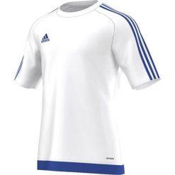 Odzież sportowa męska: Adidas Koszulka piłkarska męska Estro 15 biało-niebieska r. L (S16169)