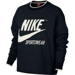 BLUZA NIKE SPORTSWEAR CREW 857088 010. Czarne bluzy damskie marki Nike. Za 209,00 zł.