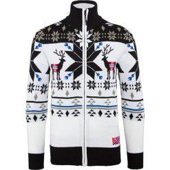 """Sweter rozpinany """"Jonas"""" w kolorze biało-czarnym. Białe golfy męskie Nebulus, m, z dzianiny. W wyprzedaży za 172,95 zł."""