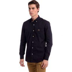 Koszule męskie na spinki: Koszula w kolorze granatowym