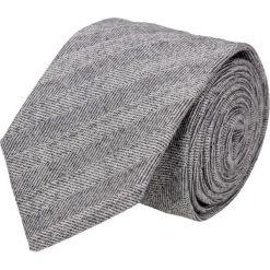 Krawaty męskie: krawat platinum szary classic 206