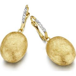 Kolczyki damskie: Kolczyki Złote – złoto żółte 750, Brylant 0,07ct