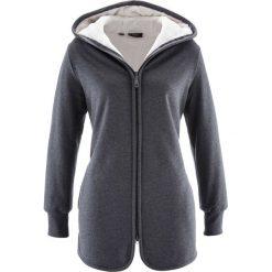 Bluza rozpinana z polarem bonprix antracytowy melanż. Szare bluzy polarowe bonprix, melanż. Za 129,99 zł.