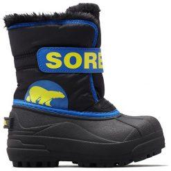 Sorel Chłopięce Śniegowce Snow Commander, 27, Czarne/Niebieskie. Białe buty zimowe chłopięce Sorel. Za 269,00 zł.