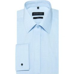 Koszula SIMONE KDNS000341. Niebieskie koszule męskie na spinki marki bonprix, m, z nadrukiem, z klasycznym kołnierzykiem, z długim rękawem. Za 229,00 zł.