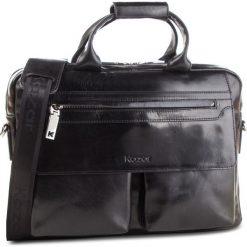 Torba KAZAR - 29946-01-N0 Czarny. Czarne torby na ramię męskie Kazar, w paski, ze skóry, na ramię. Za 749,00 zł.