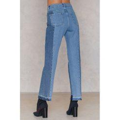 Spodnie z wysokim stanem: Statement By NA-KD Influencers Jeansy Xeniaoverdose - Blue