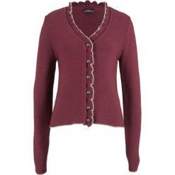 Sweter rozpinany ludowy z falbankami bonprix czerwony klonowy - kamienisty. Czerwone kardigany damskie marki bonprix. Za 59,99 zł.