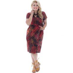 Sukienki: Sukienka w kolorze czerwono-żółto-brązowym