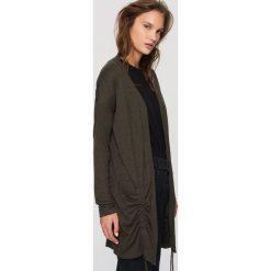 Swetry damskie: Kardigan khaki – Khaki