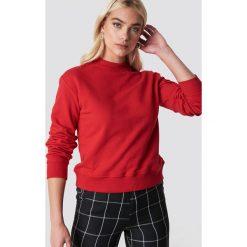 NA-KD Basic Bluza basic - Red. Czerwone bluzy rozpinane damskie NA-KD Basic, prążkowane. Za 100,95 zł.