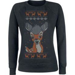 Bambi Hello Bluza damska czarny. Czarne bluzy z nadrukiem damskie Bambi, l. Za 121,90 zł.
