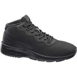 Buty męskie Nike TANJUN CHUKKA MID NIKE czarne. Czarne halówki męskie marki Nike, z materiału, nike tanjun. Za 279,90 zł.