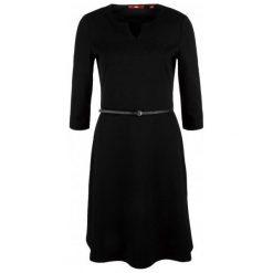 S.Oliver Sukienka Damska 34 Czarna. Czarne sukienki S.Oliver, s, z długim rękawem. Za 259,00 zł.
