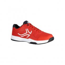 Buty tenisowe TS190 męskie. Czerwone buty do tenisa męskie ARTENGO, z kauczuku. W wyprzedaży za 79,99 zł.