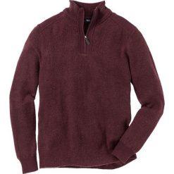 Sweter ze stójką Regular Fit bonprix czerwony klonowy melanż. Czerwone golfy męskie marki bonprix, l, melanż, z dzianiny. Za 74,99 zł.