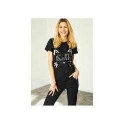 T-shirt Cat Kelly. Czarne t-shirty damskie Kelly couronne, s, z aplikacjami, z bawełny, z klasycznym kołnierzykiem. Za 79,00 zł.