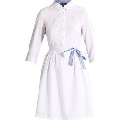 Sukienki hiszpanki: Cortefiel SHIRT STYLE SEERSUKER DRESS Sukienka koszulowa white