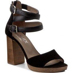 Rzymianki damskie: Sandały ANN MEX – 8025 01W+01S Czarny