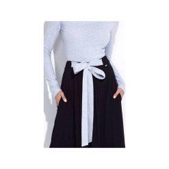 CZARNA SPÓDNICA MAXI Z KOKARDĄ W PASIE. Czarne długie spódnice Bien fashion, s, z bawełny. Za 159,00 zł.