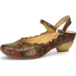 """Rzymianki damskie: Skórzane sandały """"Aida"""" w kolorze jasnokarmelowym"""