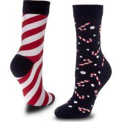 Skarpety Wysokie Unisex MANY MORNINGS - Sweet X-Mass  Kolorowy. Czerwone skarpetki męskie marki Happy Socks, z bawełny. Za 29,00 zł.