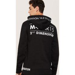 Bluza z napisami - Czarny. Czarne bluzy męskie rozpinane marki House, l, z napisami. Za 119,99 zł.