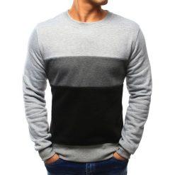 Bluzy męskie: Bluza męska bez kaptura szara (bx3025)