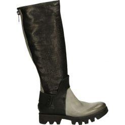 Buty zimowe damskie: Kozaki - 692308 GRI-NE