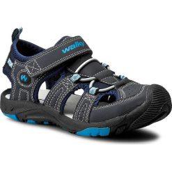 Sandały męskie skórzane: Sandały WALKY – CP40-857 Granatowy
