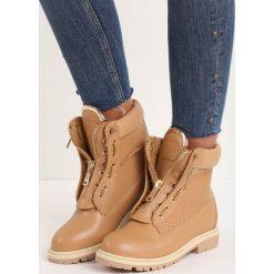 Camelowe Traperki Cynthia. Brązowe buty zimowe damskie Born2be, z okrągłym noskiem, na płaskiej podeszwie. Za 79,99 zł.