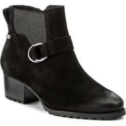 Botki TAMARIS - 1-25030-29 Black 001. Szare buty zimowe damskie marki Tamaris, z materiału, na sznurówki. W wyprzedaży za 289,00 zł.