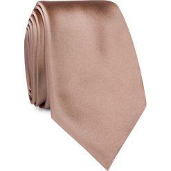 KRAWAT KWER001267. Brązowe krawaty męskie Giacomo Conti, z mikrofibry, eleganckie. Za 69,00 zł.