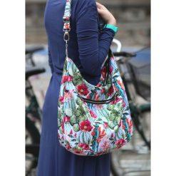 Kolorowa torba kaktusy kwiaty kolorowe wzory. Szare torebki klasyczne damskie Pakamera, w kolorowe wzory. Za 179,00 zł.