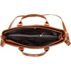 Skórzana damska Torebka Włoska brązowa. Brązowe torebki klasyczne damskie Paolo Peruzzi, ze skóry. Za 269,00 zł.