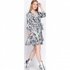 Szara Sukienka Natural Phenomenon. Szare sukienki hiszpanki Born2be, uniwersalny, mini. Za 109,99 zł.