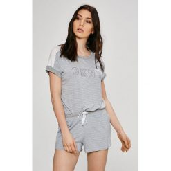 Dkny - Piżama. Szare piżamy damskie marki DKNY, l, z nadrukiem, z dzianiny. W wyprzedaży za 219,90 zł.