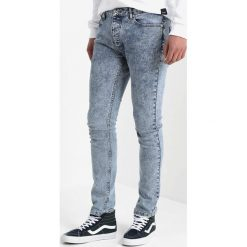 Topman ACID WASH LEO  Jeans Skinny Fit blue. Niebieskie rurki męskie Topman. Za 169,00 zł.