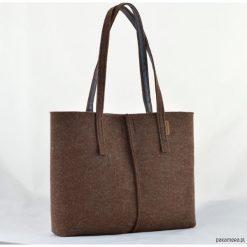 Duża Torebka - Minimalistyczna -Niska Brązowa. Brązowe torebki klasyczne damskie Pakamera, duże. Za 89,00 zł.