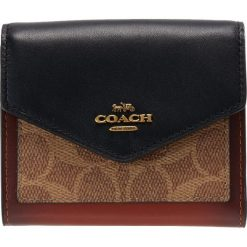 Portfele damskie: Coach SIGNATURE SMALL WALLET Portfel tan black