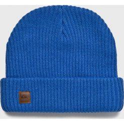 Quiksilver - Czapka. Niebieskie czapki zimowe męskie Quiksilver, na zimę, z dzianiny. Za 129,90 zł.