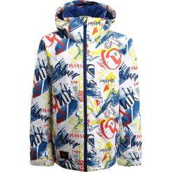 Quiksilver MISSION Kurtka snowboardowa white youth thunderbolts. Niebieskie kurtki chłopięce sportowe marki Quiksilver, l, narciarskie. W wyprzedaży za 324,35 zł.