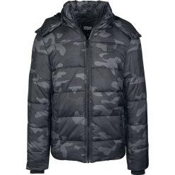 Urban Classics Hooded Camo Puffer Jacket Kurtka zimowa kamuflaż (Dark Camo). Niebieskie kurtki męskie pikowane marki Urban Classics, l, z okrągłym kołnierzem. Za 244,90 zł.